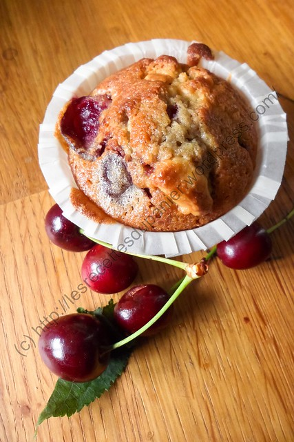 Muffin Cerise - Chocolat Blanc / Cherry - White Chocolate Muffin