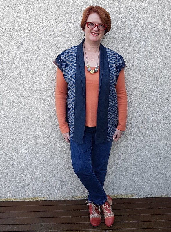 New Look 6397 in ikat from Chiang Mai and denim