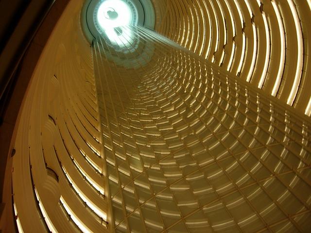 Atrium central de la Tour Jin Mao à Shanghai