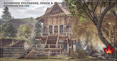 Trompe Loeil - Glynwood Stilthouse, Couch & Chair for Uber June