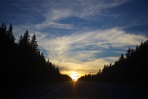 canon 5dmarkii travel novascotia sunset sky clouds dusk magichour road drive roadtrip sun car street