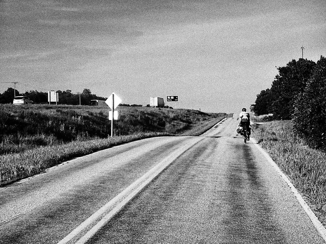 bicycle Route 66 black and white