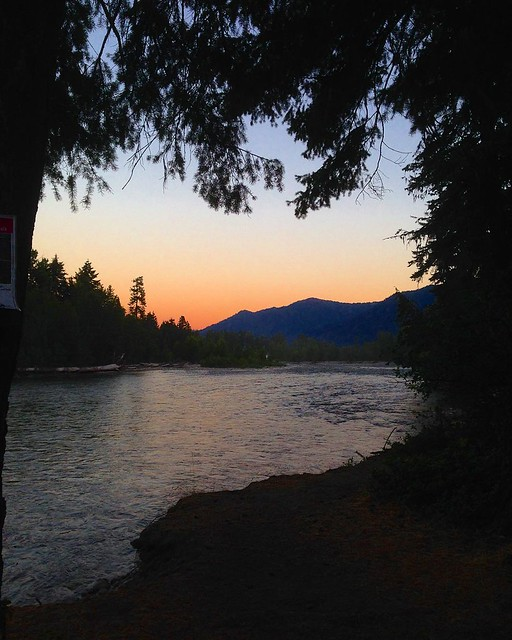 River sunset.