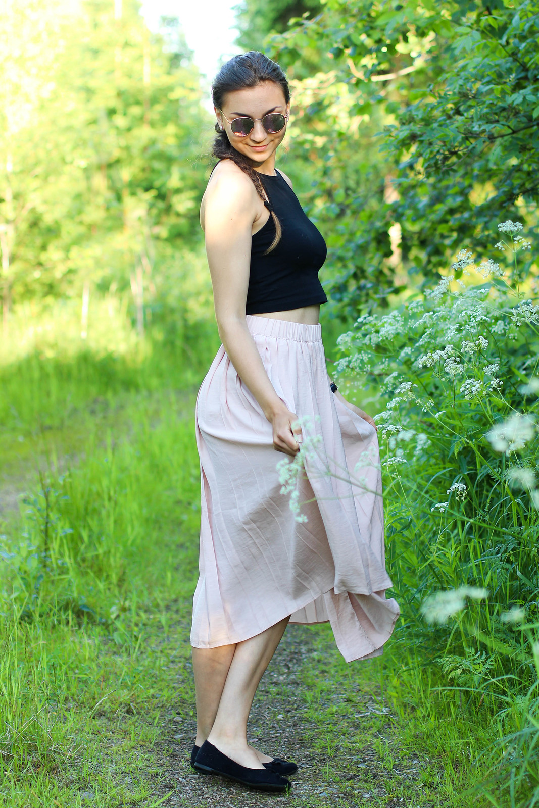 pleated skirt outfit 3