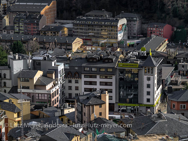 Andorra architecture: Andorra la Vella, the center, Andorra city, Andorra