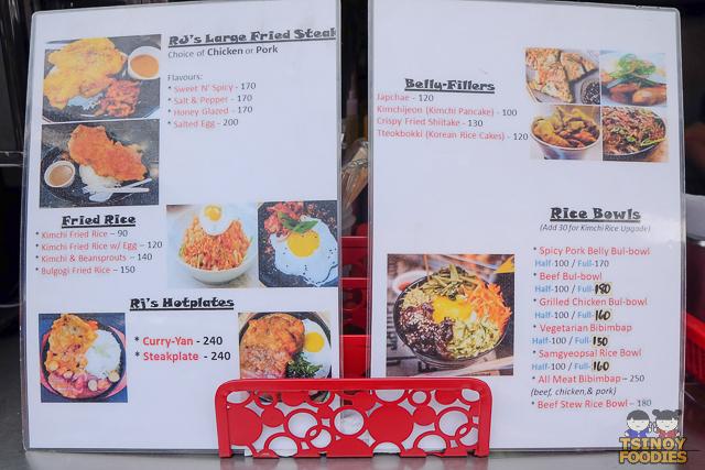 rj bowlgogi menu