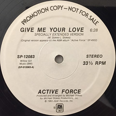 ACTIVE FORCE:GIVE ME YOUR LOVE(LABEL SIDE-B)