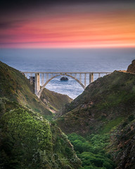 Bixby Bridge from Old Coast Road - Big Sur, CA