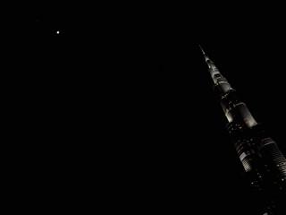 Burj Khalifa hacia la Luna, Dubai