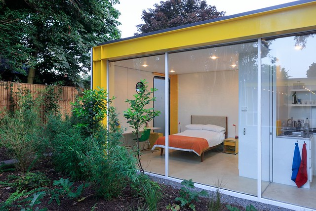 prefab 1960s harvard design London Wimbledon House bedroom