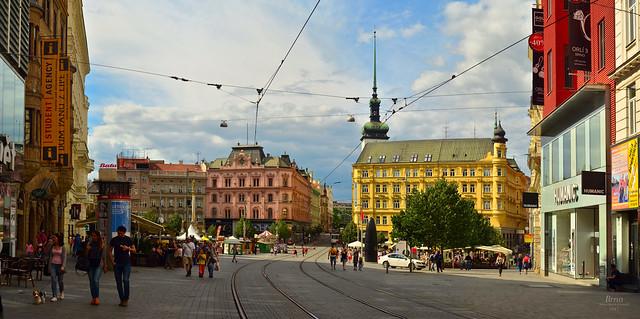 Brno - Náměstí svobody huge panorama