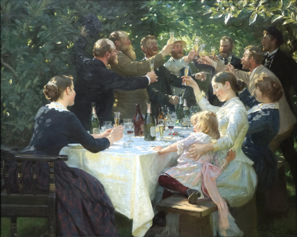 Hip, Hip, Hurrah! by P.S. Krøyer, 1888