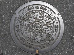 Ikeda Gifu, manhole cover (岐阜県池田町のマンホール)