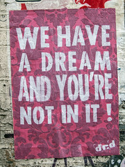 We Have a Dream. Street art,