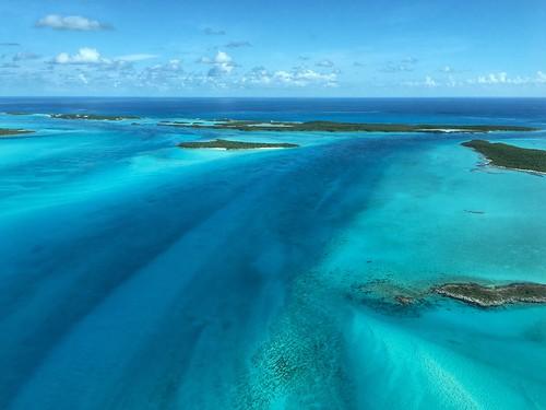 beautyinnature water nature sea sky scenics tranquilscene tranquility horizonoverwater landscape bahamas exuma aerialview