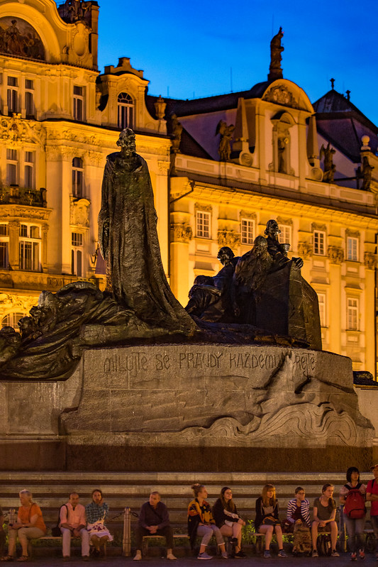 Jan Hus Memorial in Old Town Square Prague