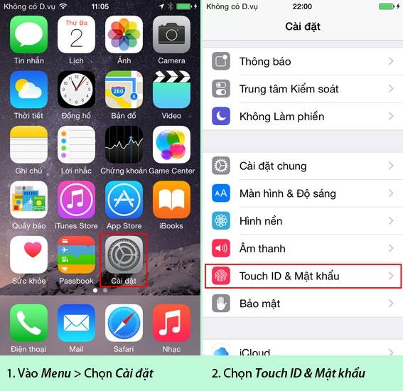 Hướng dẫn cài đặt mật khẩu cho iPhone/iPad - Cách cài mật khẩu mới cho iPhone/iPad