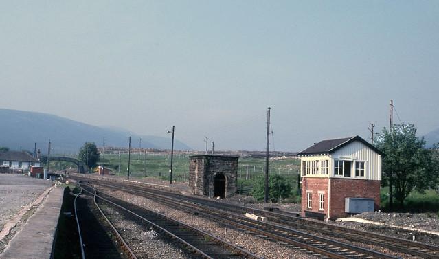 Dalwhinnie Signal Box & Stn. Jun'86.