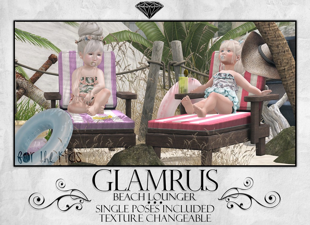 Glamrus Kids . Beach Lounger AD - SecondLifeHub.com
