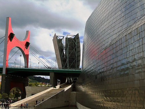 The bridge leading to the Guggenheim in Bilbao, Spain