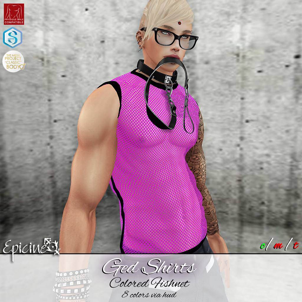 Epicine - Ged Shirts - Colored Fishnet - SecondLifeHub.com