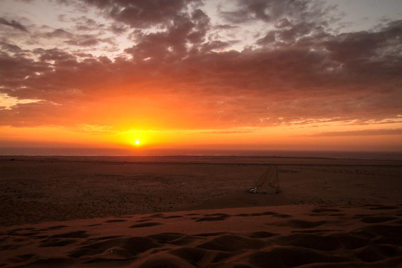 Sonnenuntergang Namib Wüste Namibia Afrika