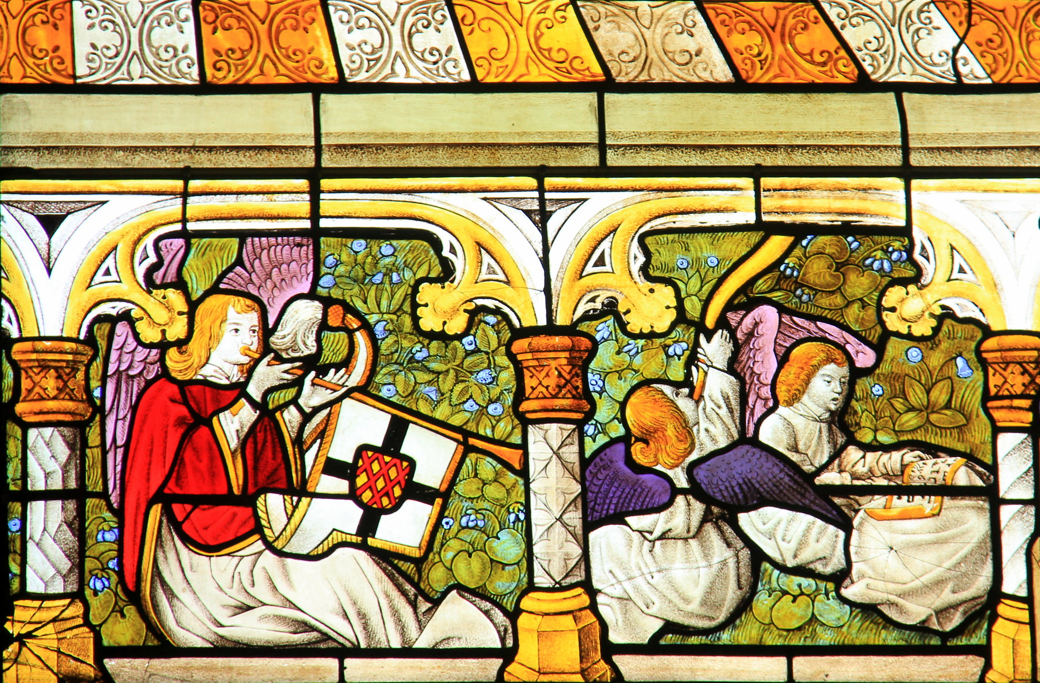 A stained glass window of the Cologne Dom