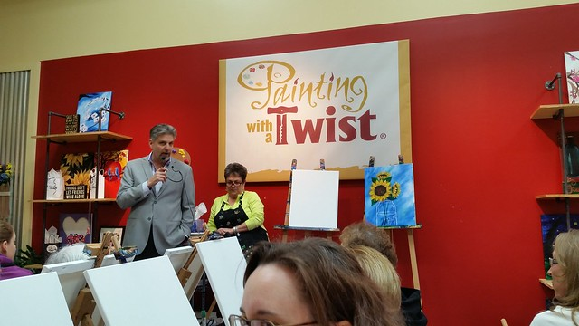 """Ladies' Night"" at Painting with a Twist"