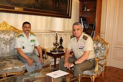 El JEME recibe en el Cuartel General del Ejército a su homólogo mauritano
