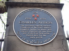 Photo of Charles Avison black plaque
