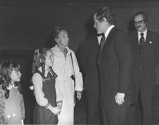 Photograph of Senator Kennedy at the Citizenship Day Ceremony at the National Archives