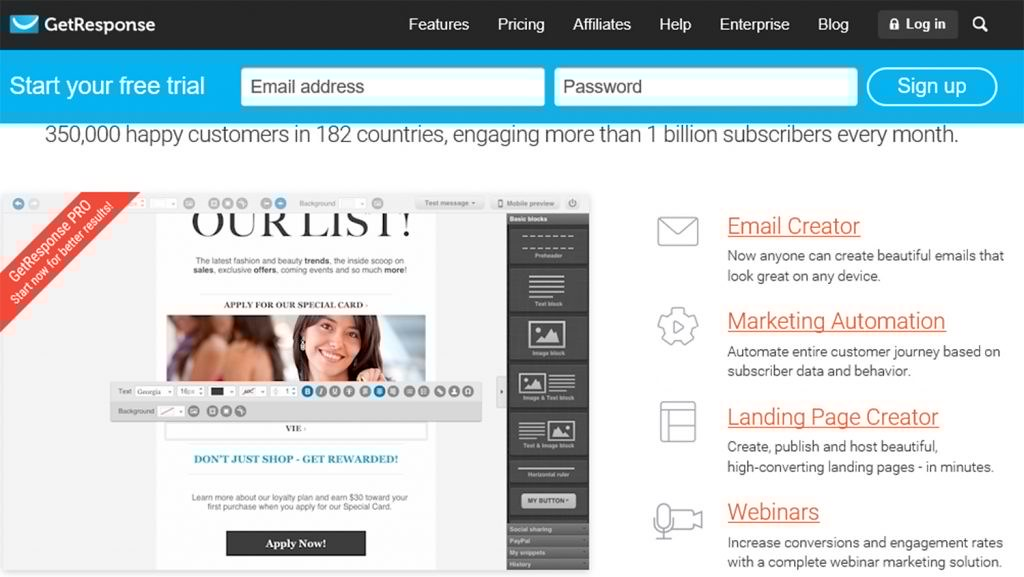 free trial affordable email marketing tool