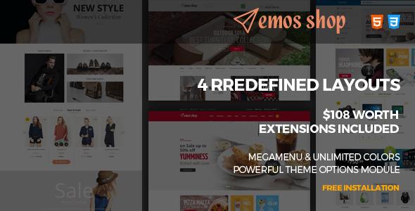 Emos v1.0 – Multi Store Responsive Magento Theme