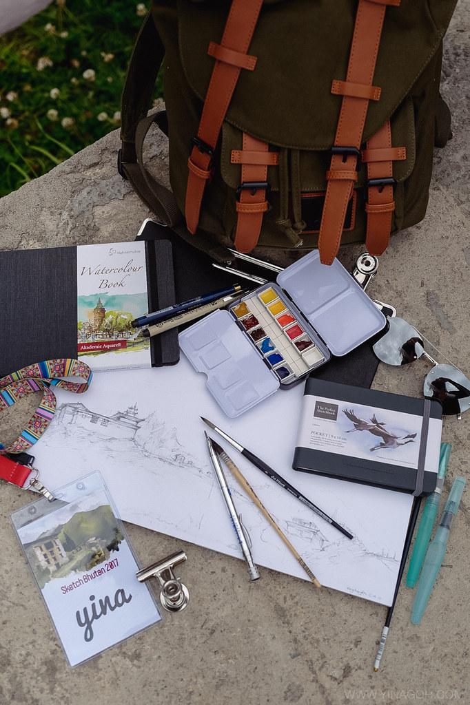 Sketch-Bhutan-Drukasia-Travel-33