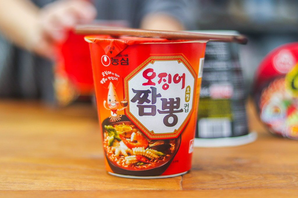 Korean Spicy Noodles Challenge: NONGSHIM CHAMPONG CUP NOODLES