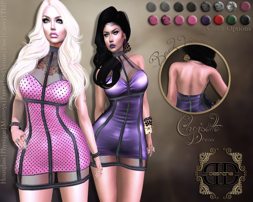 Chrisette Dress Fatpack Inworld and MP - SecondLifeHub.com