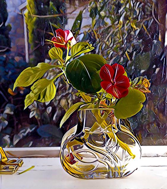 Little Glass Vase on a Windowsill_3688_2