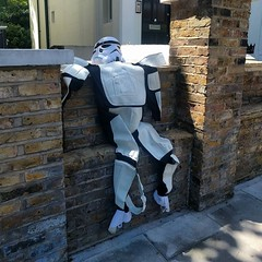 The Storm troopers in my neighborhood are feeling a little deflated. @whampstead #NW6 #flytippingordryingout?