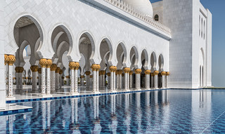 Grand mosque, reflections