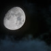 Waxing Gibbous Moon with Clouds by aksoykaan1