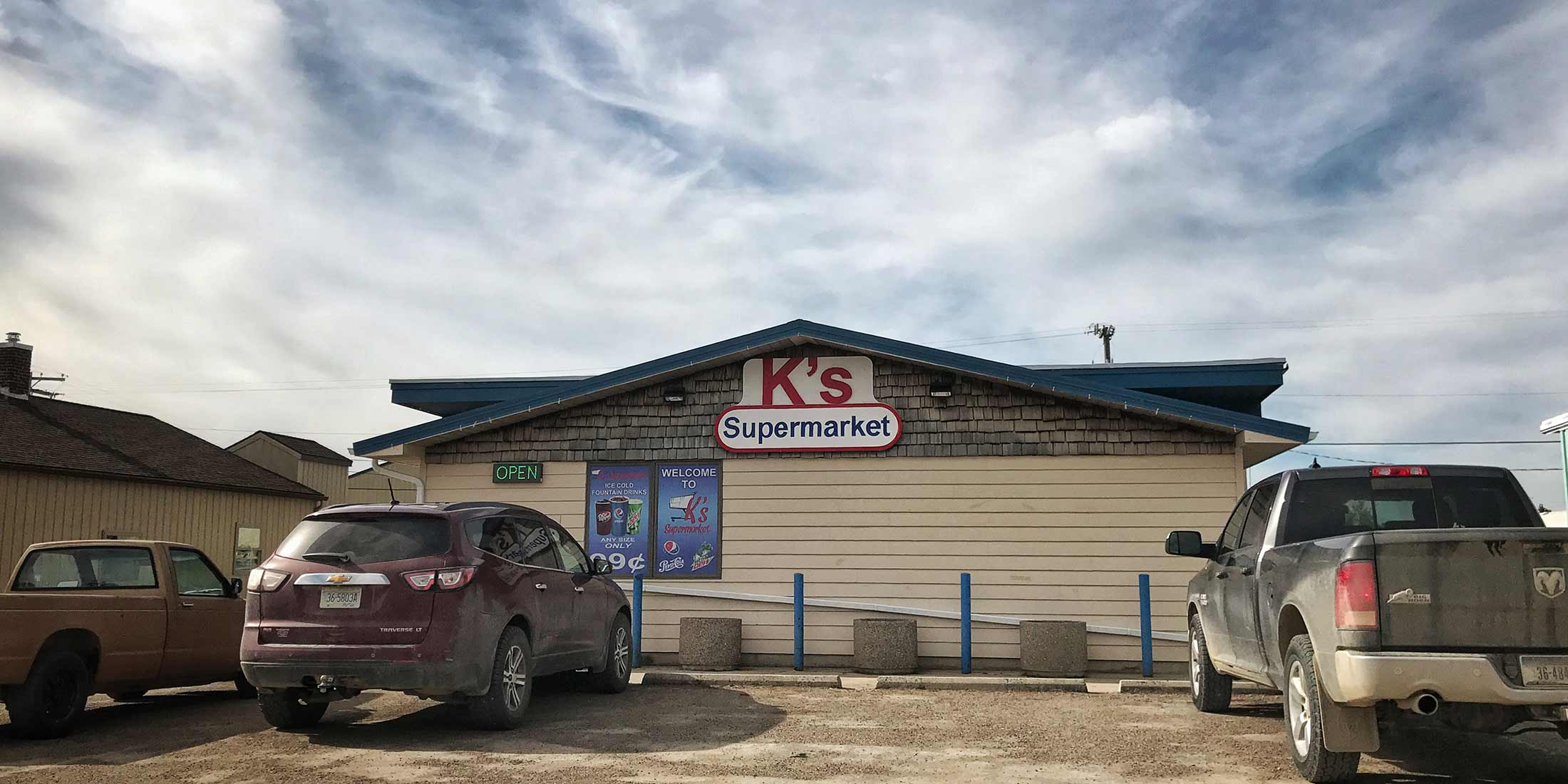 Information and hours for K's Supermarket in Stanford, Montana - Judith Basin County on Highway 87.