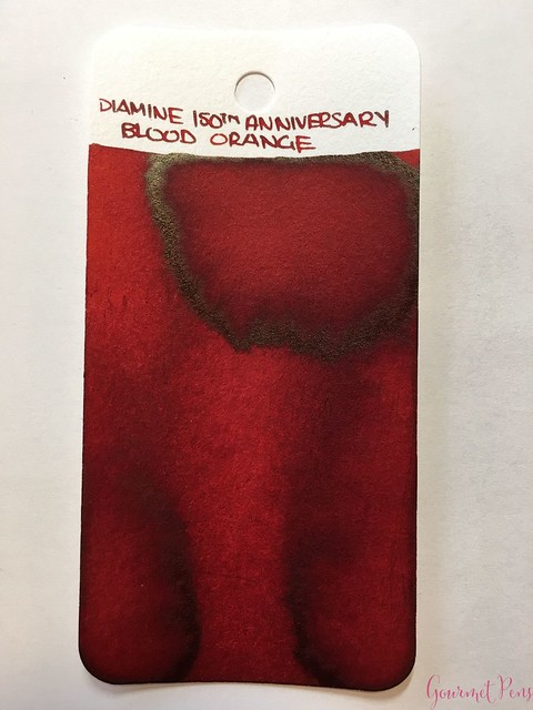 Ink Shot Review Diamine Anniversary Blood Orange @AppelboomLaren 11