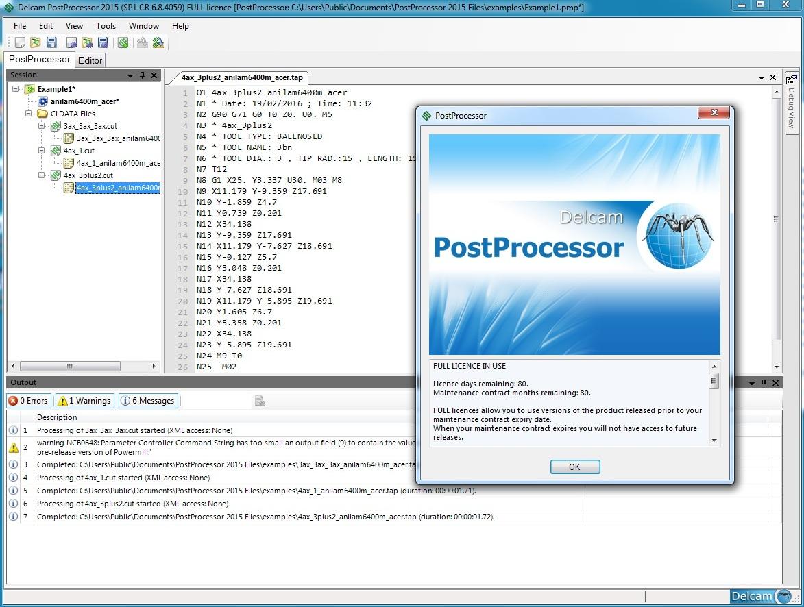 check and edit G-Code with Delcam PostProcessor 2015 SP1 32bit 64bit full crack 100 working