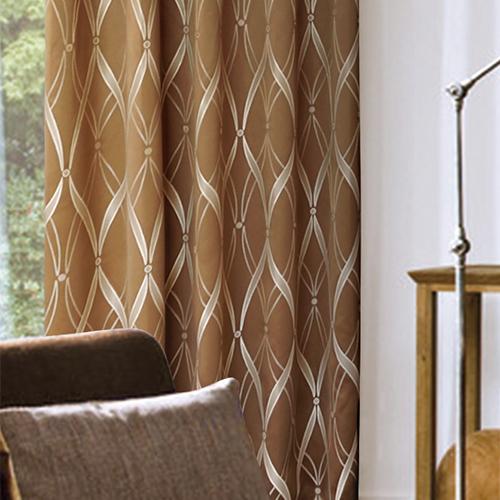 緞帶緹花 高貴雅緻緹花窗簾 半遮光窗簾布 DA1190061
