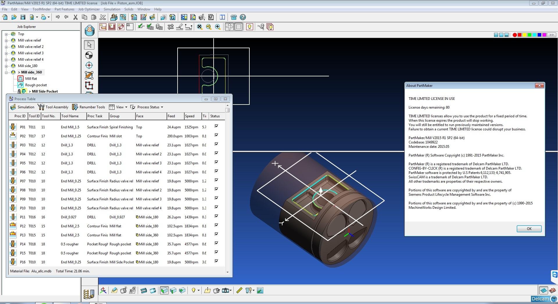 download Delcam PartMaker 2015 R1 SP2 32BIT 64BIT FULL CRACK