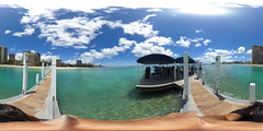 From the Hilton Pier between the Duke Kahanamoku and DeRussy Beaches in Waikiki - a 360° Equirectangular VR