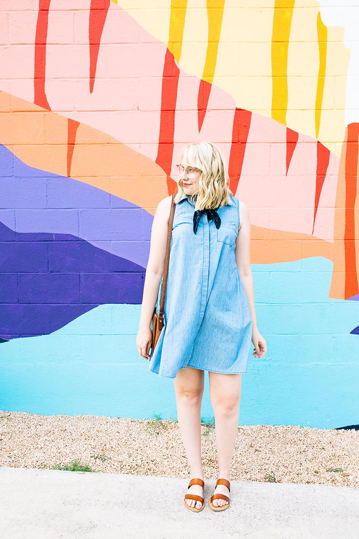 austin fashion blogger writes like a girl old navy denim dress1