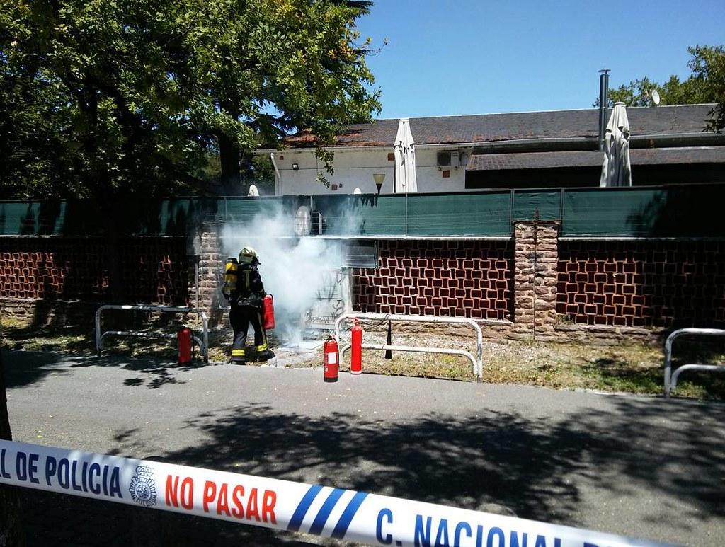 Bomberos actuando en Pamplona. @noticiasnavarra #fuego #fire #pamplona #bomberos
