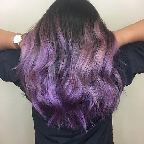 @simpson901 using Goldwell Elumen #playingwithpurple @modernsalon #IAMGOLDWELL #goldwellapprovedus #hairbrained_official #modernsalon #hairpainting #purplehair