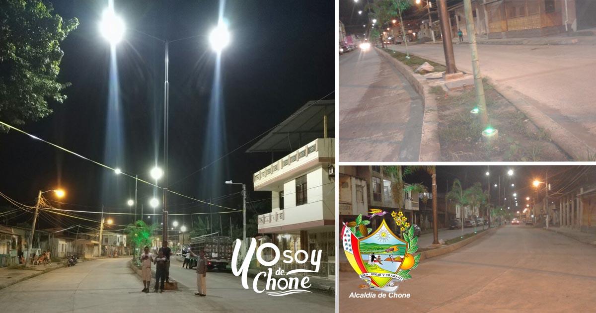 Iluminación de la avenida 14 de Agosto una realidad